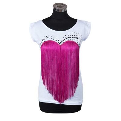 T-shirt con frange Feat