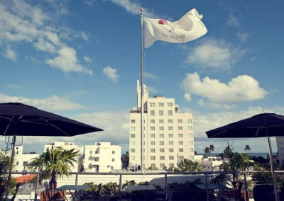 La terrazza con vista su Miami