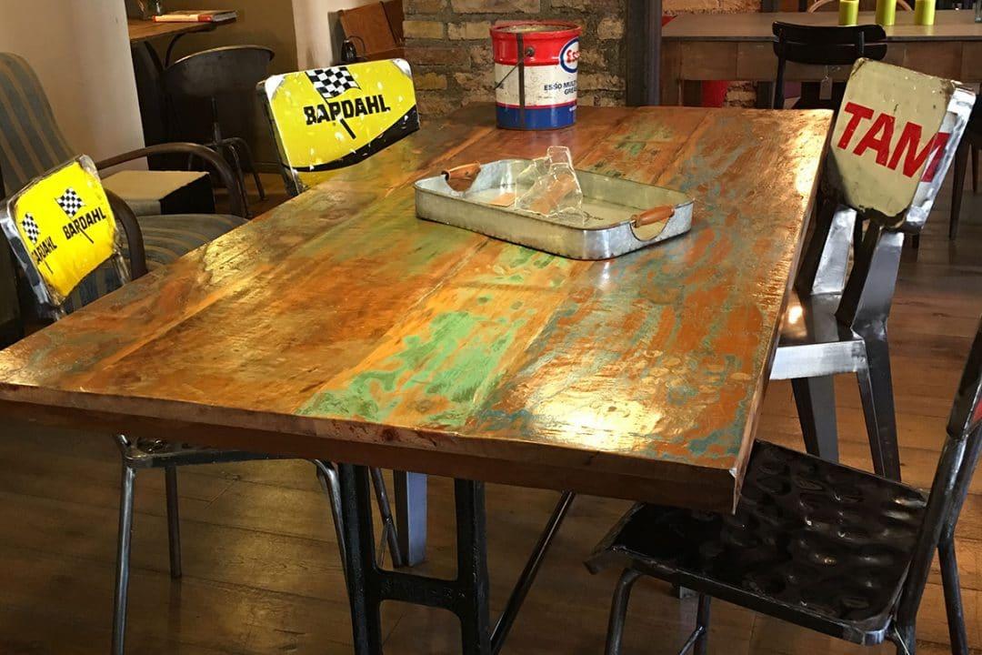 Sgabelli sedie industriali ferro legno vintage arredo