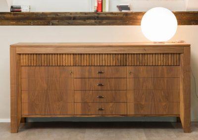 Credenza '900 Morelato in legno di noce canaletto