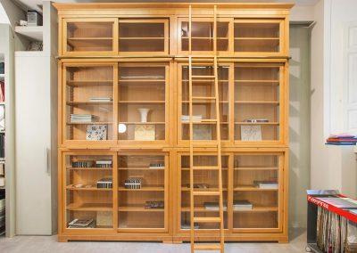 Proposta di libreria componibile Biedermaier, produzione Morelato