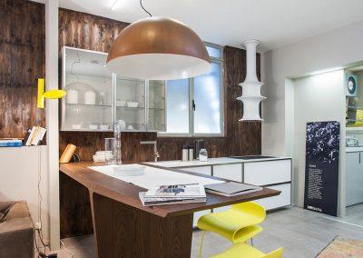 Proposta cucina con elementi Rossana di ispirazione industriale