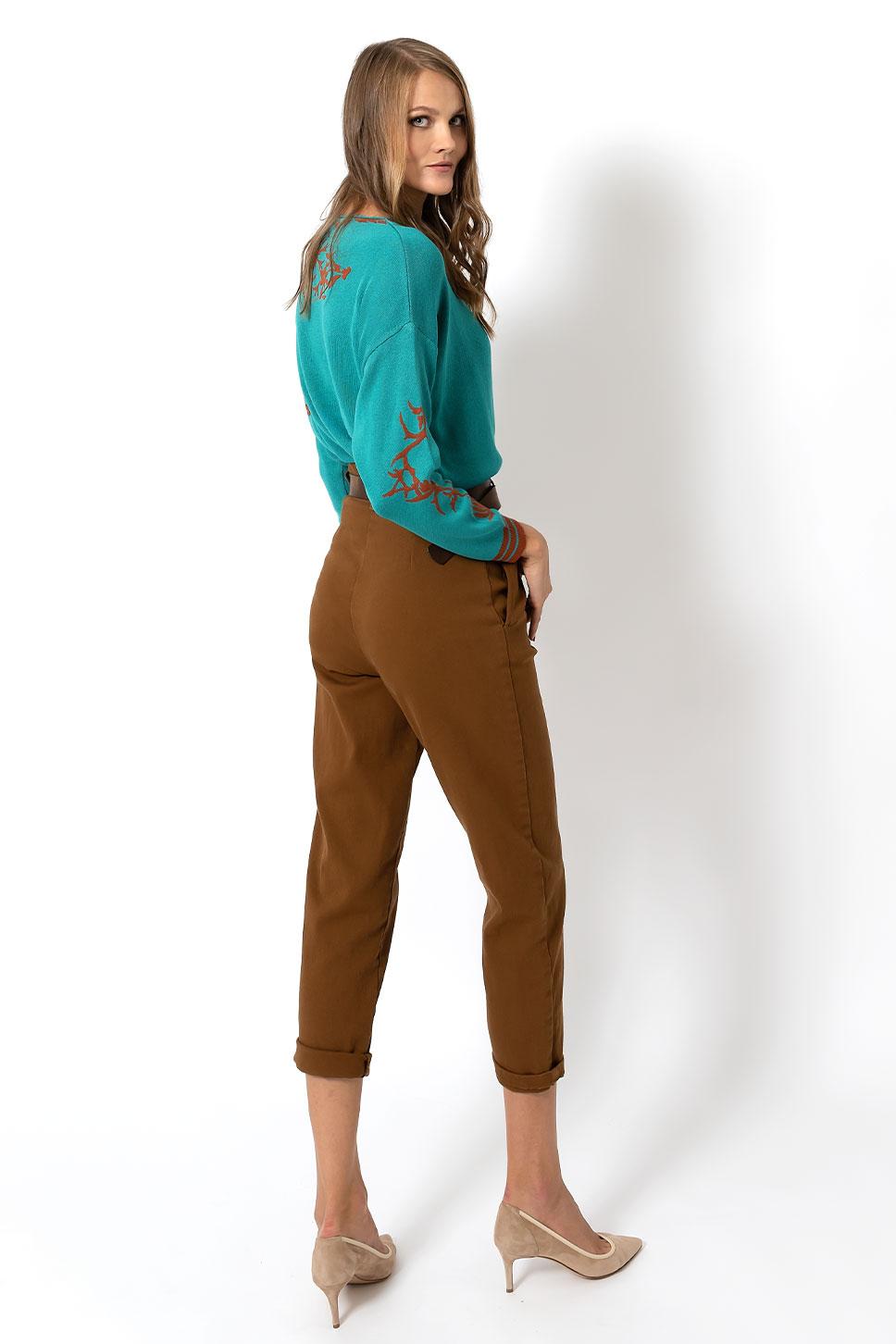 Pantalone chino a vita alta di Bec