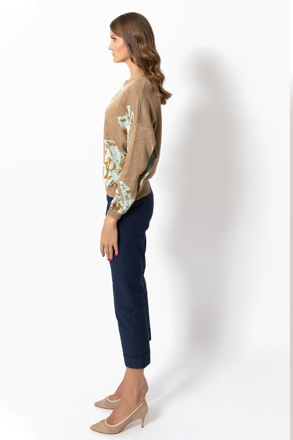 Pantalone blu con risvolto di Bec