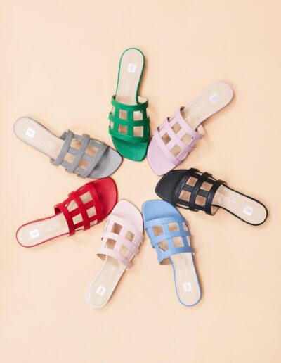 Le varianti colori dei sandali Giuli