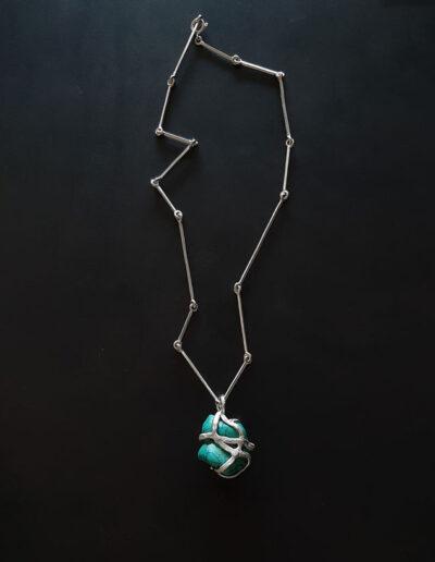 collana Illusione Pareidolía in argento con pietra Turchese di Exati Jewels