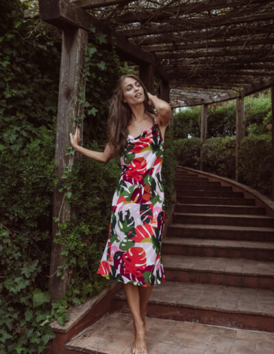 Long dress fantasia bloom di Otro Amor Bikini