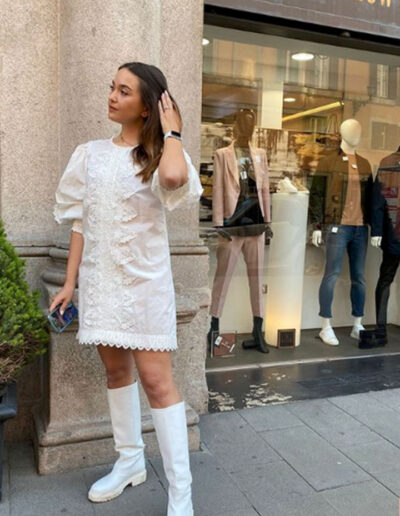 Outfit total white di The Crow Lab
